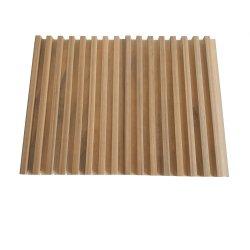Ligne simple bande de bois décoratifs intérieurs TV Toile de fond Panneau mural cannelé/WPC Plafond de la grille
