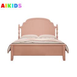 سرير الأطفال على النمط الحديث فتاة الأميرة سرير خشب صلبة أمريكي سرير مفرد