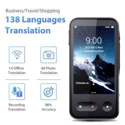 2021 أفضل بيع 138 عبر الإنترنت 14 دعم غير متصل بطاقة 4G ذاكرة الوصول العشوائي 8G ترجمة سريعة مترجم صوتي