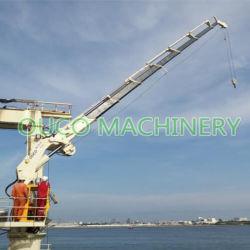 スペース節約折るブームの電気油圧装置が付いている海洋クレーン
