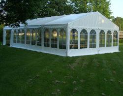 Espacio libre personalizada gran boda la marquesina de aluminio de parte de pared de cristal