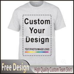 De façon personnalisée des hommes T Shirt de l'impression 100% coton à manches courtes Tshirt promotionnel avec votre Logo Design