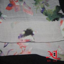 L'impression numérique en mousseline robe de soie pour