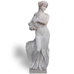 白い大理石図石造りの切り分ける彫刻の彫像