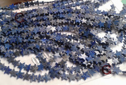 Pietra preziosa di Lapis 13mm di figura della stella per la fabbricazione dei monili