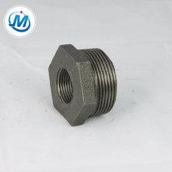 Superfície Preta o bujão de encaixe do tubo de ferro maleável