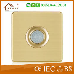 El ahorro de energía eléctrica del sensor del cuerpo humano el interruptor de pared de luz