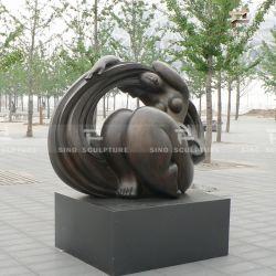 Литая деталь бронзовой статуи скульптура с патина