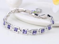 Mesdames Strass metal bracelet de pierres zircon fabricant