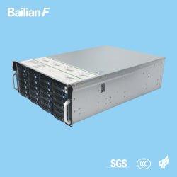 De aangepaste Media die van de Server 4u-24bays van het ControleSysteem van de Camera van de Server van de Opslag van de Server NVR Server stromen