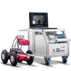 Um Gasoduto Vidicon de Alta Definição muito lentamente o robô de detecção