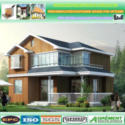 Préparé Maison Structure bois préfabriqués / deux chambres à coucher maison préfabriquée de luxe