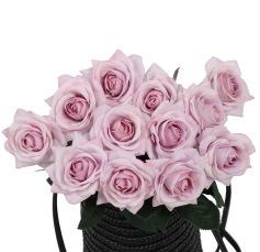 Faux contact réel haut de gamme de fleurs artificielles roses de la tige de latex pour Mariage Décoration florale de bricolage bouquet de mariée