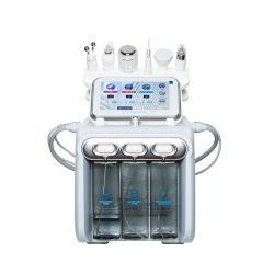 Microcurrent Hydro dermoabrasión Facial Peeling multifunción de cuidado de piel de la terapia de oxígeno de la máquina de belleza piel