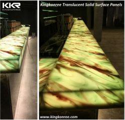 Comitato traslucido di superficie solido della resina della decorazione domestica di Kingkonree
