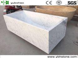 Het Wit van Carrara van Bianco/de Marmer Opgepoetste Badkuip van de Steen Narural voor Badkamers