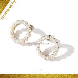 Moda jóias de formato de círculo Hoop brinco com boas pérolas de qualidade