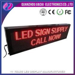 P10 Cor vermelho LED de exterior da placa de escrita