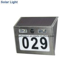 L'éclairage Doorplate solaire avec capteur de lumière
