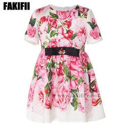 New Design Rose Pink Girl Dresses/Kinderkleding Meisje kleding