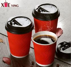 Tazza di carta a parete semplice a gettare di PLA di Eco del caffè di bambù biodegradabile concimabile della fibra