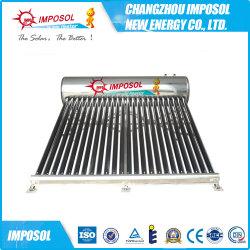 Sistema de techo calentador de agua solar presionado integrada