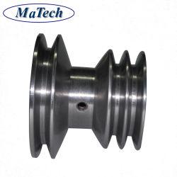 L'usinage de précision de la poulie à usage intensif de l'agriculture les roues de la poulie en acier moulé