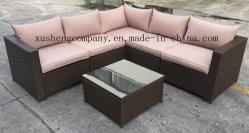 Sofà esterno di Conner del rattan della mobilia di svago stabilito del sofà della mobilia del giardino