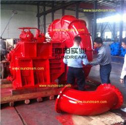 20-24-30 pouces intégré dans l'engrenage de gravier sable drague pompe / des travaux de dragage/Dredge lisier Pompe à eau centrifuge