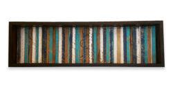 Rústicos de madera pintados a mano arte de pared Caja de sombra de pared de madera