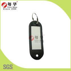 Modifica chiave di plastica delle catene chiave delle modifiche chiave di nome di contrassegno di identificazione dei bagagli con l'anello chiave dell'anello di spaccatura