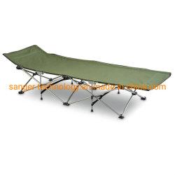 [هيغقوليتي] يحمل يطوي سرير خفيف مع إستقرار معدن إطار, يتيح [كمب بد] [بوب-وب] في جيش اللون الأخضر مع حقيبة