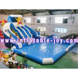 거대한 PVC 팽창식 활주 또는 위락 공원 팽창식 활주 또는 팽창식 물 미끄럼
