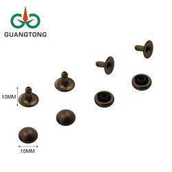 Nickel-freier antiker Messing 10 mm-Pilz-Schutzkappen-Metallniet für Handtasche