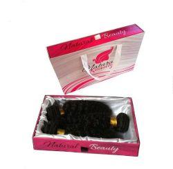 Les boîtes de gros perruque personnalisé Bundle Hair Extension à l'emballage avec doublure en satin