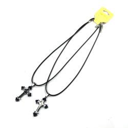 Custom Bisutería Cross-Shaped Collar Colgante de plata