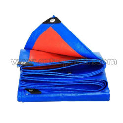 Blauw die PE van China Geteerd zeildoek met UV voor de Dekking van het Hooi wordt behandeld
