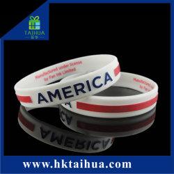 Мода пользовательские рельефным логотипом силиконовый браслет/силикон браслет/резиновую ленту