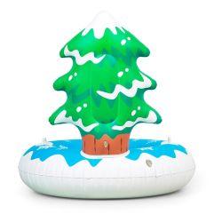 Aufblasbarer Weihnachtsskifahren-Winter-Plastikschnee-Schlitten-Gefäß mit zwei Zupacken-Griffen