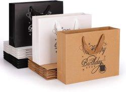 Borsa per decorazione Felice compleanno in tessuto colorato con carta trattata Sacchetti di carta