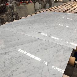 Een marmeren Plak van Bianco Carrara van de Kwaliteit van de Rang