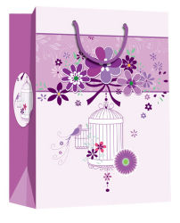 Des échantillons gratuits de conception attrayante violet Emballage du papier cadeau un sac de shopping