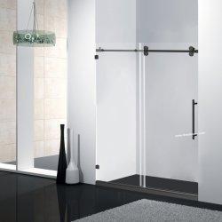 Rodillo doble ducha correderas Puertas con color negro.
