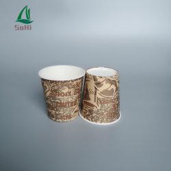 Les tasses de papier 12oz boisson du filtre à l'isolement jetables plats à emporter LED 100 % Compostable PLA tasse de café jetables à double paroi