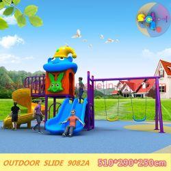 تصميم جديد أنبوب خارجي حلزوني للأطفال ومجموعة سوينغ ملعب للأطفال
