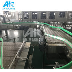 水ペットガラスビンの給油システムおよびケーブルの溝およびコンベヤーモーターを搭載する満ちるチェーン転送のベルト・コンベヤーシステム
