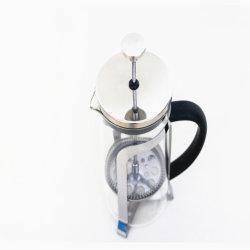 方法圧力鍋の高いホウケイ酸塩ガラスの手動式せん孔機の鍋の茶コーヒー鍋フィルター