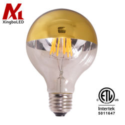 G80 G25 Gold Top E27 Lampe à incandescence LED Vintage