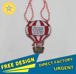 X-Dons eterna por grosso de balão de Impressão CMYK Custom Club Zoo Sport executando Medalha de metal em Tampografia Cor Pantone com Lanyand