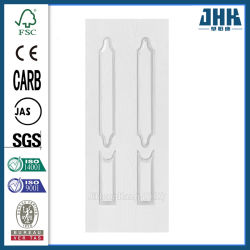 Красивые дешевые деревянные двери белого цвета грунтовки кожи (JHK-020)